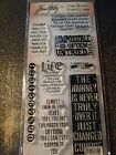 Stampers Anonymous Tim Holtz Clear Stamp Encouraging Phrases 2 HC006 New