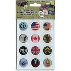 Patriotic 75 Gel Stickers For Paracord Charms  Buckles 12 Pkg