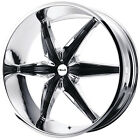 22x95 Chrome Helo HE866 Wheels 5x475 5x5 +10 Lifted DODGE DURANGO GMC
