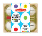 Melissa and Doug Slice and Sort Wooden Eggs 9301 new sealed
