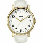 Timex T2P170, Women's Watch, Easy to Read, White Leather Band, Indiglo