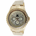 Mens Diamond Watch Ice Time Bling Jojo Jojino Joe Rodeo Illusion Band 0.25 Ctw.