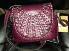nwt Patricia Nash leather Puccini Woven Crossbody Burgundy 189 retail
