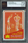 1972-73 TOPPS # 250 RICK BARRY AS PROOF BGS 7.5 SOLO FINEST GRADED UNIQUE