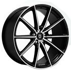 Set4 New 20 Lexani Wheels CSS 10 Black Machined Rims