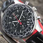DETOMASO FIRENZE XXL 48mm Mens Watch Chronograph Stainless Steel Leather New