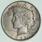 Choice AU UNC 1922 Peace Silver Dollar 90 Silver 736