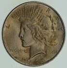 Choice AU UNC 1923 Peace Silver Dollar 90 Silver 613