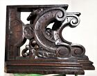 SOLID CORBEL BRACKET PAIR ANTIQUE FRENCH COUNTRY FARMHOUSE SALVAGED CARVING 19th