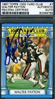 WALTER PAYTON SIGNED PSA DNA CERTED 1987 TOPPS AUTOGRAPH