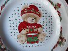 Theodore Bears Christmas Dinner Plates 101/2  Drummer Tienshan Stoneware Mint