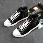 New Mens Lace Up Flat High Top Ankle Boots Shoes Sneaker Casual College Zip Hot