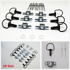 10 Set Universal 17mm Matte Black Motorcycle ATV 1/4 Turn Race Fairing Fasteners