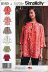 SIMPLICITY SEWING PATTERN 8169 MISSES 4-26 LOOSE TUNIC/TOP W/ SLEEVE VARIATIONS