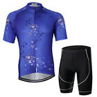 Violet Sports Men Cycling Jerseys Short Sleeve Clothing Set Shirts Jackets S-3XL