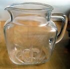 Vintage Federal Clear Glass Breakfast Juice Milk Pitcher Star Bottom Sunburst