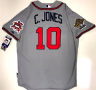 CHIPPER JONES ATLANTA BRAVES 95 WORLD SERIES MAJESTIC COOL BASE AUTHENTIC JERSEY