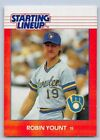 1988  ROBIN YOUNT - Kenner Starting Lineup Card - MILWAUKEE BREWERS