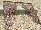 2 Large Cast Iron Brackets Corbels NO Mounting HOLES