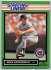 1989   MIKE HENNEMAN - Kenner Starting Lineup Card - DETROIT TIGERS