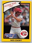 1990  NICK ESASKY - Kenner Starting Lineup Card - CINCINNATI REDS - (Yellow)
