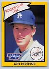 1990  OREL HERSHISER - Kenner Starting Lineup Card - LOS ANGELES DODGERS - (Yel)