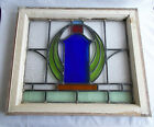 Leaded Stain Glass Window From England in Orginal Sash No Cracks 1900-1940