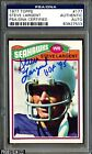 1977 Topps Football #177 Steve Largent RC Rookie Signed AUTO