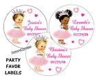 20 BABY SHOWER ROYAL PRINCESS STICKERS for FAVORS popcorn goody bags 2 inches