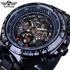 WINNER Men Semi-Automatic Mechanical Watch Business Skeleton Hollowed-out A8T5