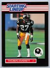 1989   THOMAS EVERETT - Kenner Starting Lineup Card - PITTSBURGH STEELERS