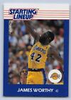 1988  JAMES WORTHY - Kenner Starting Lineup Card - SLU - LOS ANGELES LAKERS