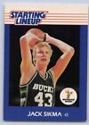 1988  JACK SIKMA - Kenner Starting Lineup Card - SLU - MILWAUKEE BUCKS