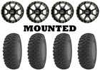 Kit 4 GBC Kanati Terra Master Tires 27x9-14/27x11-14 on Frontline 556 Black IRS