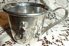 Peter Rabbit Silver Plate Embossed Bunny Child Baby Cup Mug