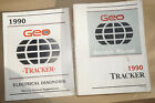 1990 GM Chevy Geo Tracker Service Manual +Electrical Diagnosis Manual 2 Vol Set