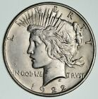 Early 1922 Peace Silver Dollar 90 Silver US Coin 169
