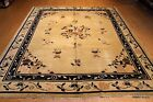Blue Vintage Chinese Art Deco Rug #PM75