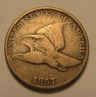 1857 Flying Eagle Cent Penny Fine Condition 4SU