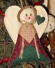 HANDMADE COUNTRY QUILTED ANGEL ORNAMENT ORNIE  FABRIC #1842
