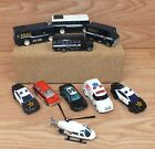 Lot of 10 Multi Brand Size Police Fire SWAT First Responder Diecast Vehicles
