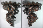 amazing black forest  hand carved Wooden Angel Putti wall shelf