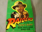 Vintage Topps Raiders Of The Lost Ark Movie Photo Cards Display Box