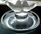 LALIQUE LOVE BIRDS Frosted Art Glass CRYSTAL RING TRAY