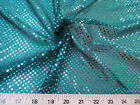 Fabric Stretch Glitter Mesh Sequin Dots Black And Turquoise Sheer Sparkle L45