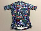 VINTAGE TINLEY ALL OVER PRINT NYLON SPANDEX CYCLING RACING JERSEY ADULT SMALL