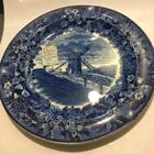 Antique Ca.1900 Wedgwood Cobalt Old Windmill Plate-Nantucket