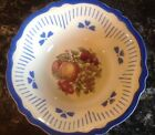 HOMER LAUGHLIN VIRGINIA ROSE VINTAGE 9 1/2 INCH SERVING BOWL FRUIT DESIGN E48N8