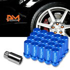 M12X125 Blue JDM Closed End Cone Hex Wheel Lug Nuts+Extension 25mmx50mm 20Pc