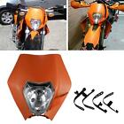 Orange Dirtbike Bulb Headlight Fairing For Suzuki DR 125 200 250 350 650 S E SE